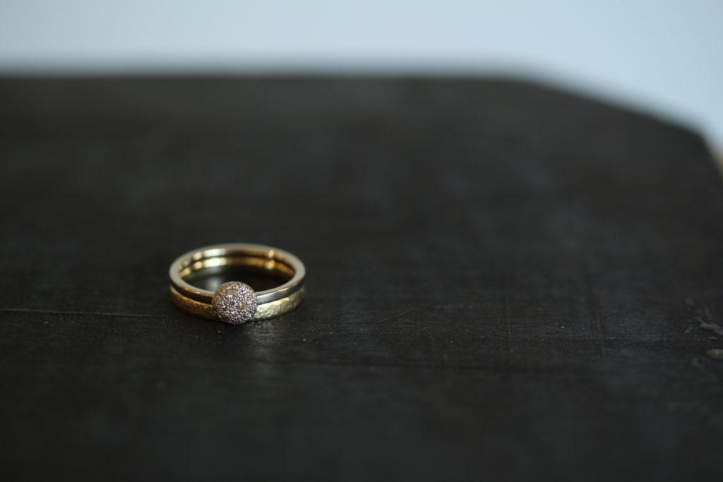 ダイヤモンドのマリッジリング