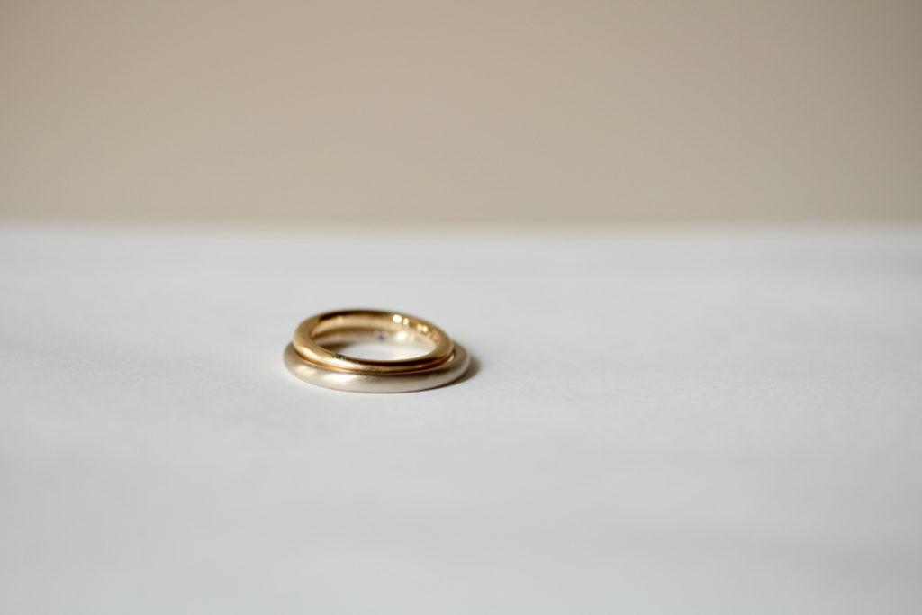 ゴールドのマリッジリング