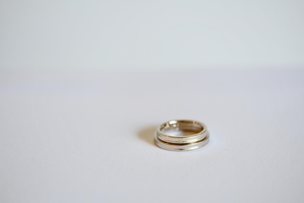 夜空に輝く一つの星をイメージした結婚指輪