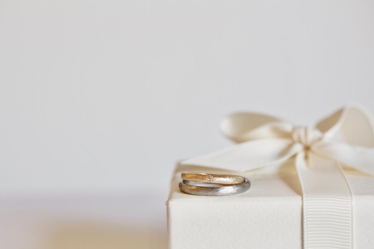 アンティークな結婚指輪,ローズカットダイヤの結婚指輪