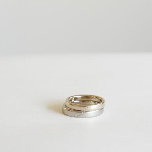 オリーブ彫り結婚指輪